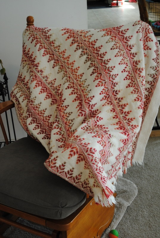 Afghan made using swedish weaving