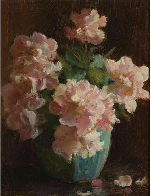 Charles Courtney Curran: Courtney Curran, Charles Curran, Art Inspiration, Charles Courtney, Art Flowers, Pink Rose, Flowers Art, Beautiful Artworks, Floral Art