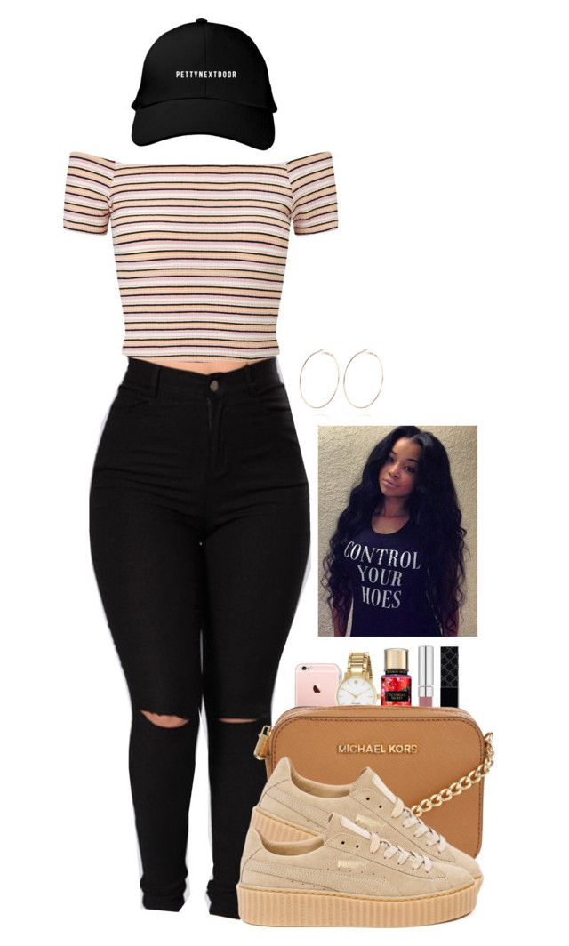 """""""Untitled #2096"""" by basnightshine1015 ❤ liked on Polyvore featuring Miss Selfridge, Kate Spade, Gucci, Michael Kors, Puma and River Island"""