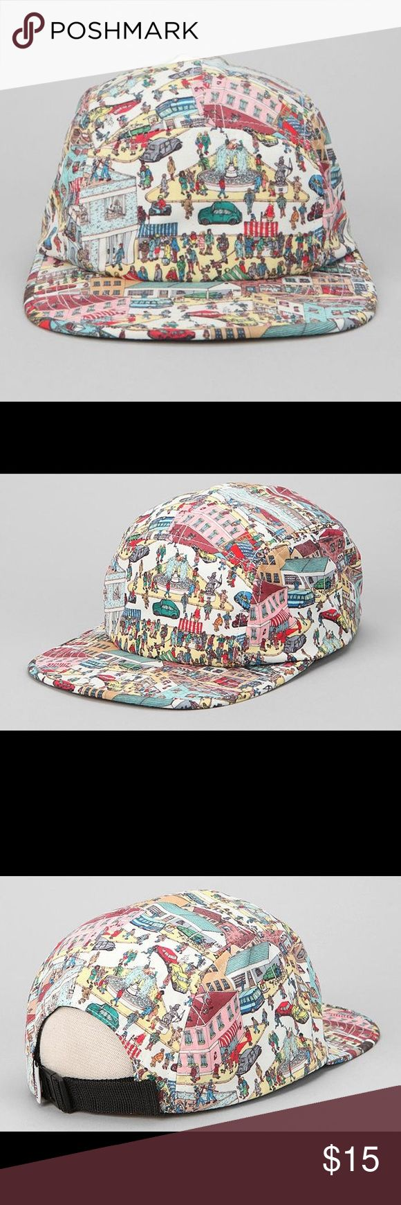 Where's Waldo 5-Panel Cap A unique 5-Panel Where's Waldo Hat. I have gotten lots of compliments from wearing it. Still in good shape and it has barely been worn. Urban Outfitters Accessories Hats