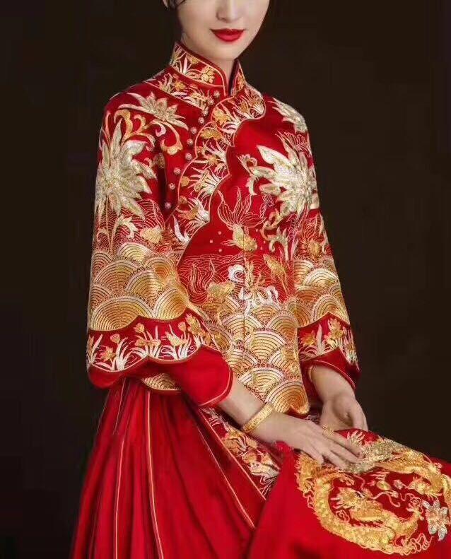 Tea Ceremony Chinese Wedding Dress Sauwofook Xiuhefu Chinese Wedding Dress Chinese Wedding Dress Traditional Wedding Dresses