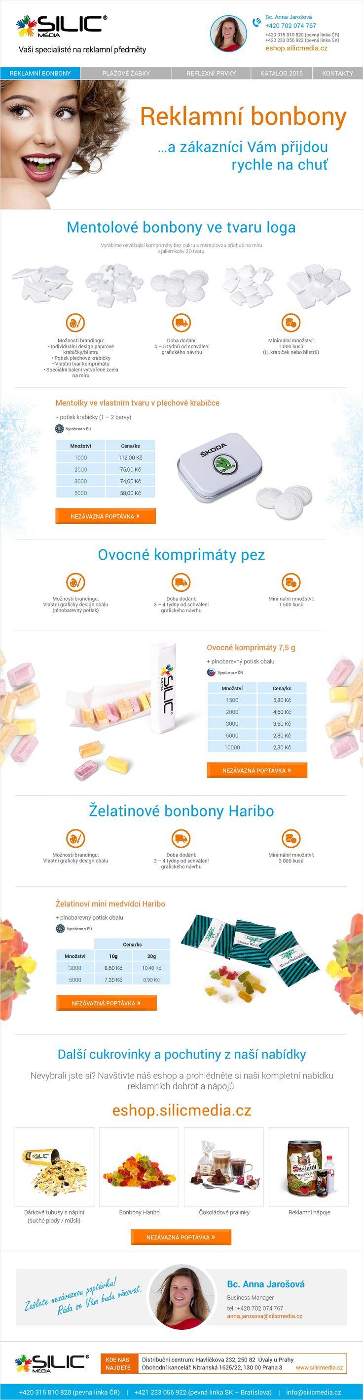 Rozpusťte se zákazníkům na jazyku. http://eshop.silicmedia.cz/aktualni-nabidky?action=detail&bid=191&utm_source=Pinterest&utm_medium=Pin&utm_campaign=Reklamni-bonbony