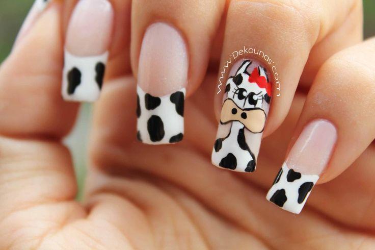 Decoración de uñas vaca 2-2