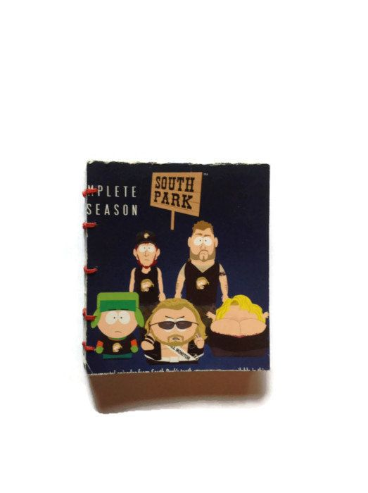 South Park mini coptic stitched journal reworked DVD by FuNkTjUnK