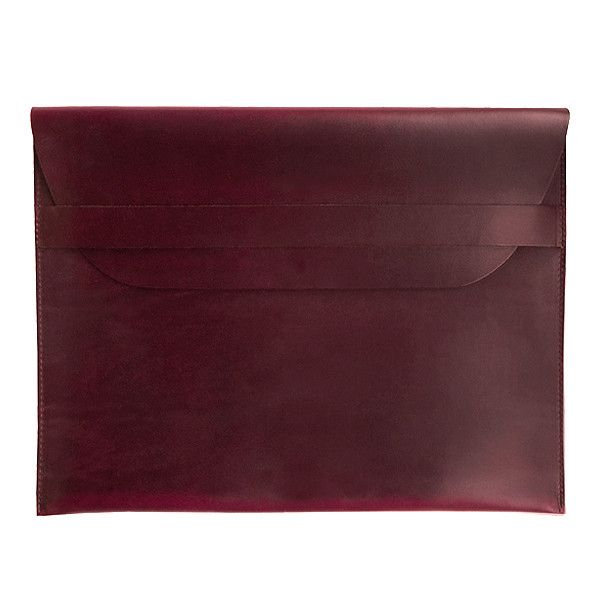 """13"""" MacBook Air & Pro Sleeve   Horween OxBlood Leather   2016 Collection"""