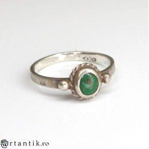 delicat inel amerindian - argint si turcoaz Royston - Statele Unite