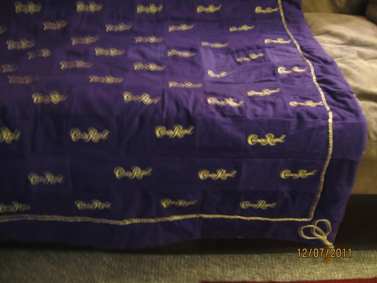 quilt made out of crown royal bags | Posted by lindsey kokkeler at 9:53 PM
