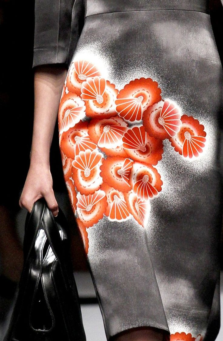 Prada, Spring 2013  --  reminiscent of kimono art #chinoiserie