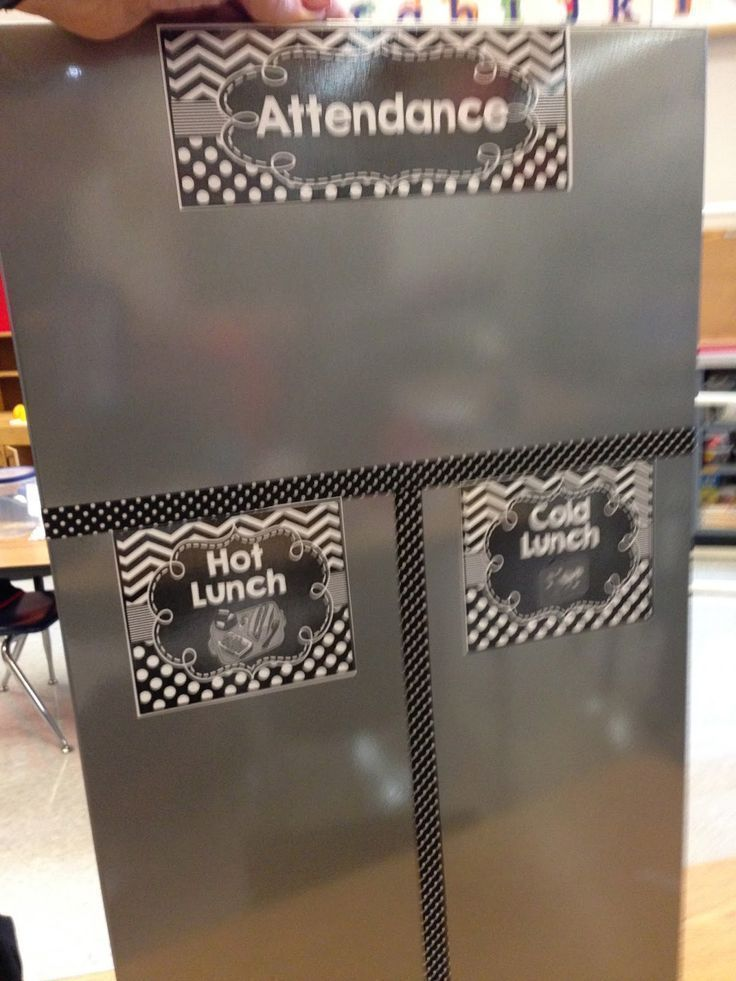 Attendance and lunch count board. Time to Go Back to School Sneak Peek