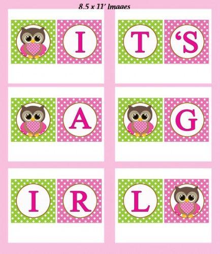Free Owl Printables Girl Owl Baby Shower Invitation