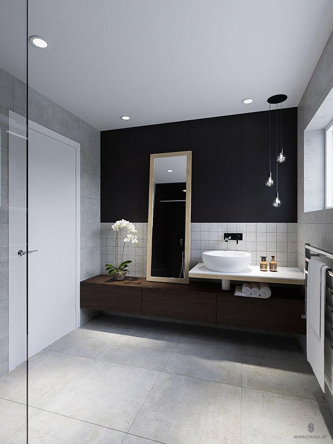 "Проект ""S.O.2"" от минской студии ""Станза"" в стиле модернизм, ванная комната. | Project ""S.O.2"" by Stanza studio (Minsk, Belarus), style  modernism. #bathroom #design #interior #black #stanza_studio_minsk   http://www.stanza.by/"