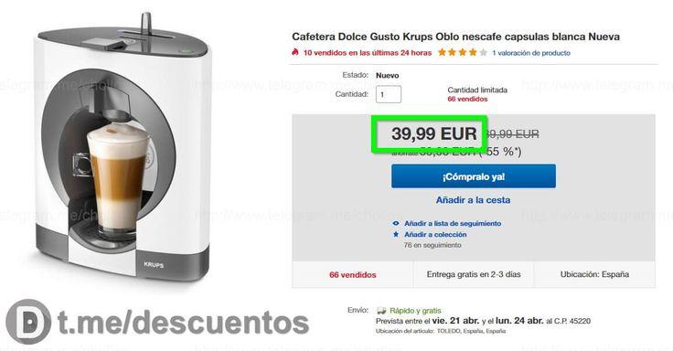 Cafetera Dolce Gusto Oblo disponible por 39 - http://ift.tt/2oMlggx