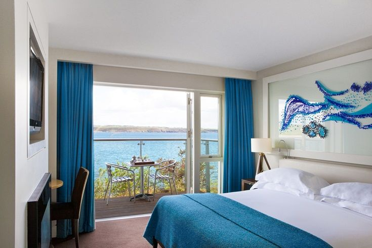 Cliff House Hotel's Balcony Suite - an area to unwind, overlooking Ardmore Bay