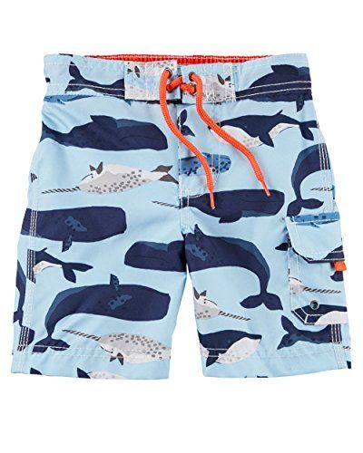 55ef36130b1c9 Carter's Baby Boys' Swim Trunks (24 Months, Blue Whale) in 2019 ...