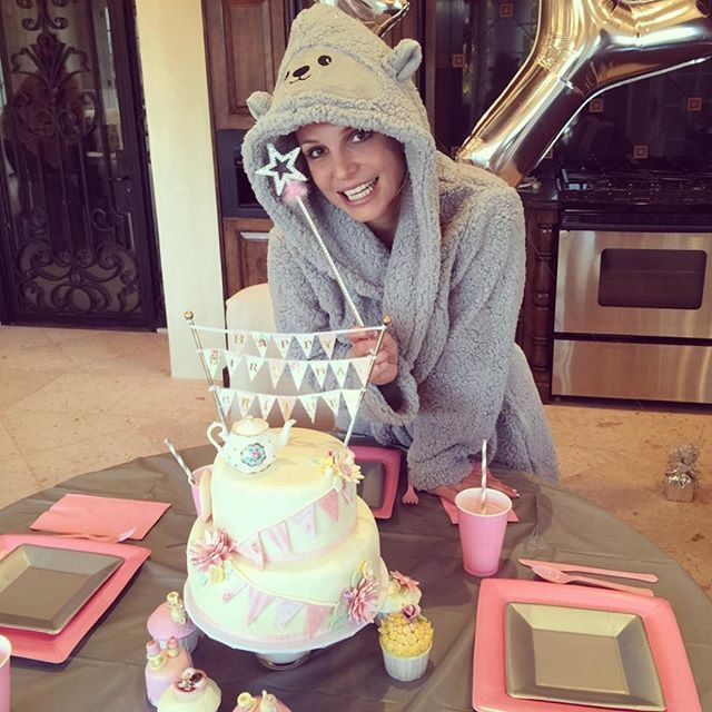 "Pin for Later: Britney Spears Has a Birthday Party Fit For a Queen  — See the Snaps!  ""Thank you so much for all the birthday wishes today! I loved reading them just as much as I loved my teacup cake."""