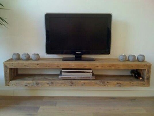 Tv meubel zwevend...home made!!!