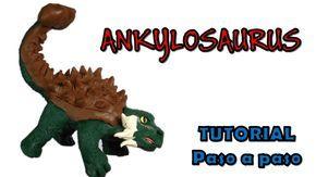 Como hacer un dinosaurio Ankylosaurus de Plastilina/How to make a Plasti...