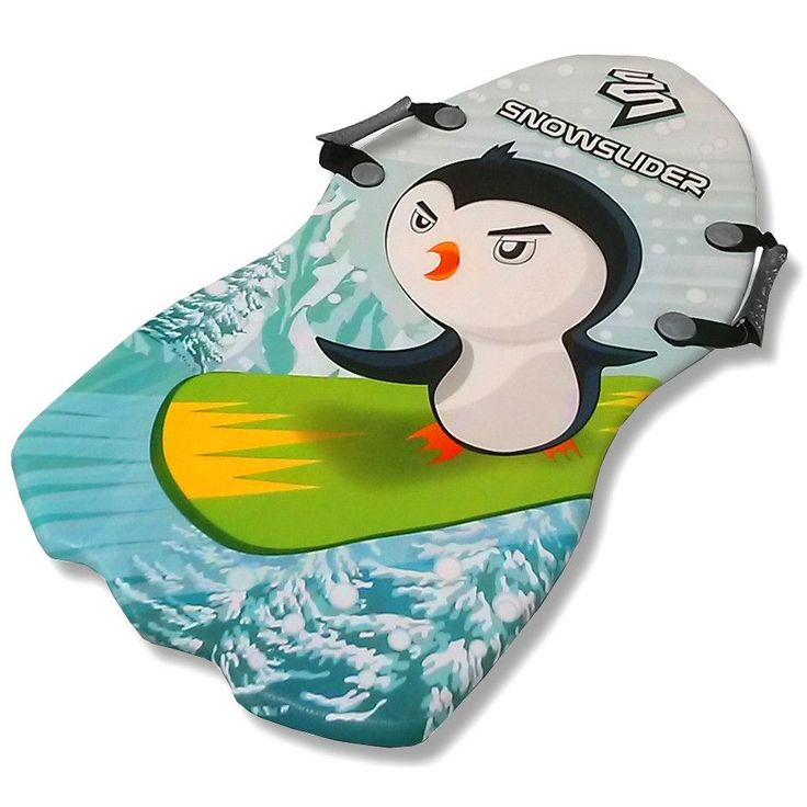 """SnowSlider Classic 36"""" Foam Kid's Snow Sled with Cool Penguin Graphics"""