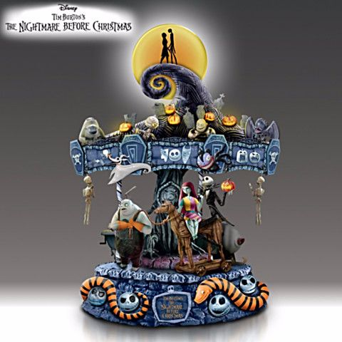 nightmare before christmas musical carousel figurine