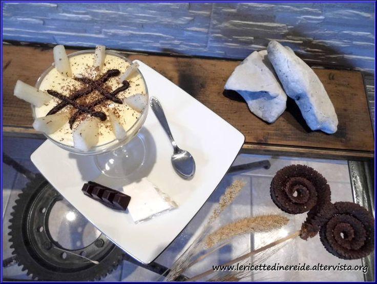 Mousse di torrone, pere e cioccolato... sublime