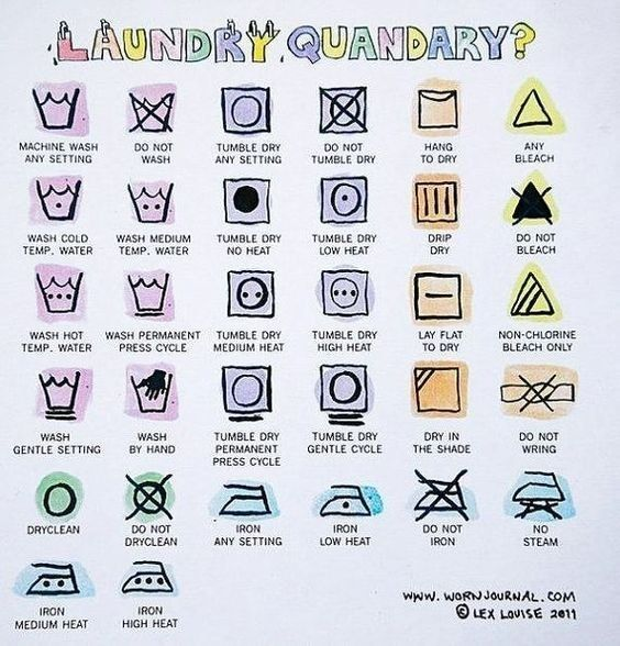 Decode laundry instructions (and never shrink your fave shirt again). | 21 Hacks To Look Stylish AF On A College Budget