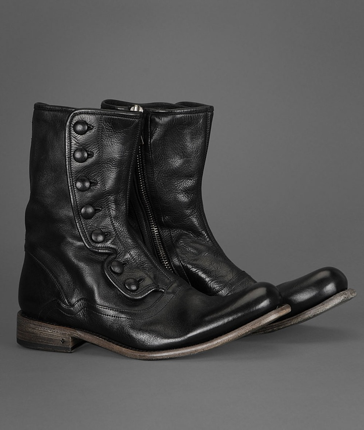 The Brixton Tall Button Boot Is Made Of Heavy Duty Italian