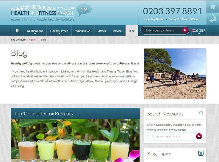 Find your #healthy holiday inspiration with our helpful Blog, featuring health and travel tips, travel news, holiday recommendations, competitions and a wealth of information on all things #well-being.