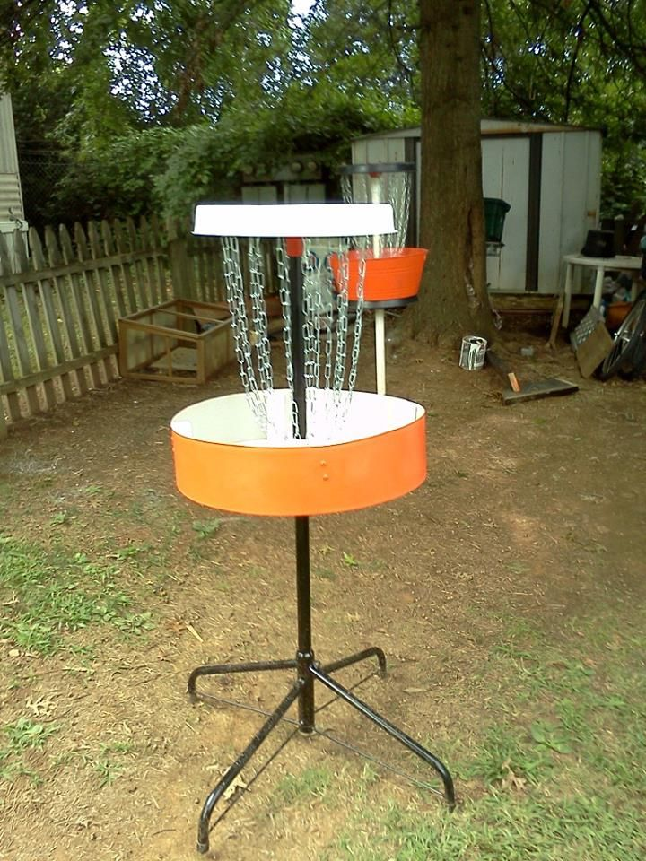 $30 portable disc golf basket.