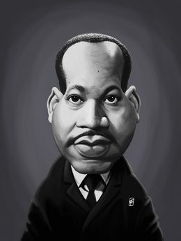 Martin Luther King by robart at zippi.co.uk art | decor | wall art | inspiration | caricature | home decor | idea | humor | gifts