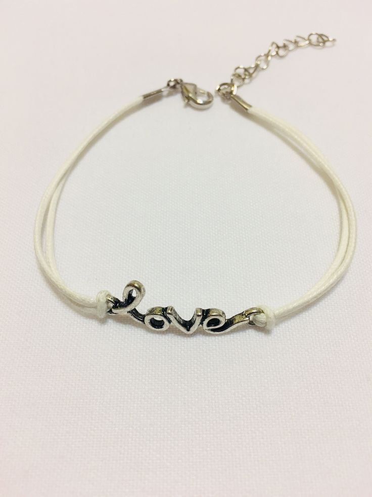 A simple expression of LOVE cord bracelet. Checkout 414 Bayou Chic on Instagram @414bayouchic