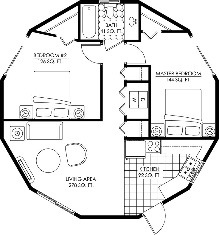 Round homes floor plans for Round home designs