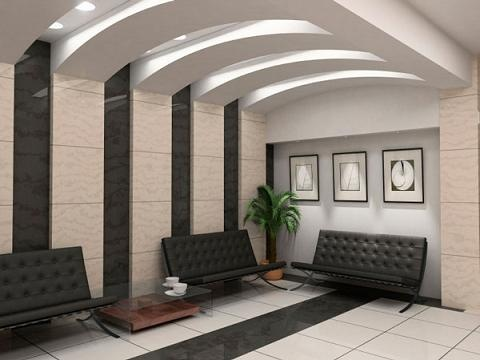 Office reception ceiling office ideas pinterest for Design hub interior decoration llc