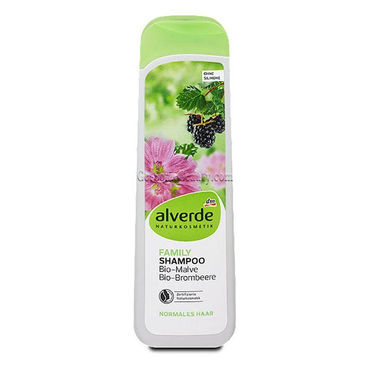 ALVERDE Natural Cosmetics Family Shampoo Organic Mallow & Blackberry 300 ml | Get Some Beauty