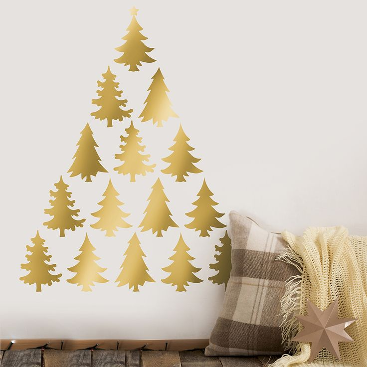 34 best Easy Holiday Decorating with Wall Decals images on Pinterest ...