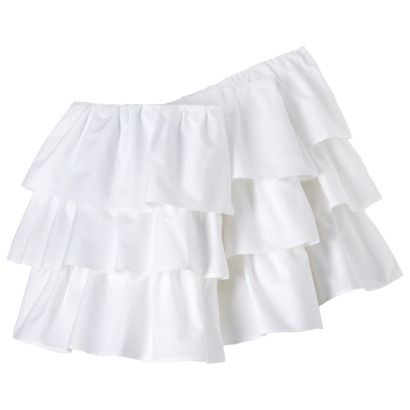 Circo® Triple Ruffle Solid Crib Skirt   Been trying to buy this for weeks and still out of stock!!! Getting frustrated