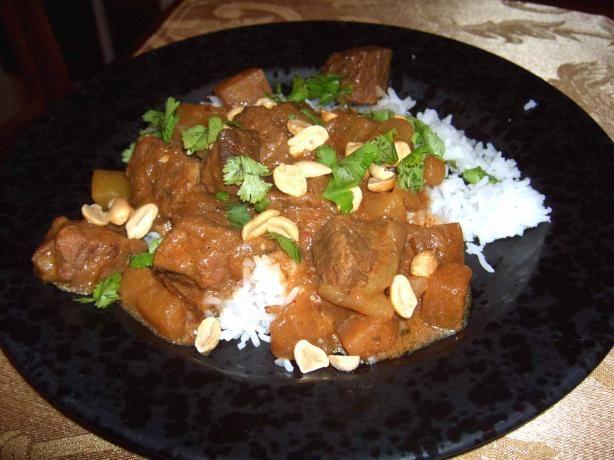 Beef brisket slow cooker Massaman Curry