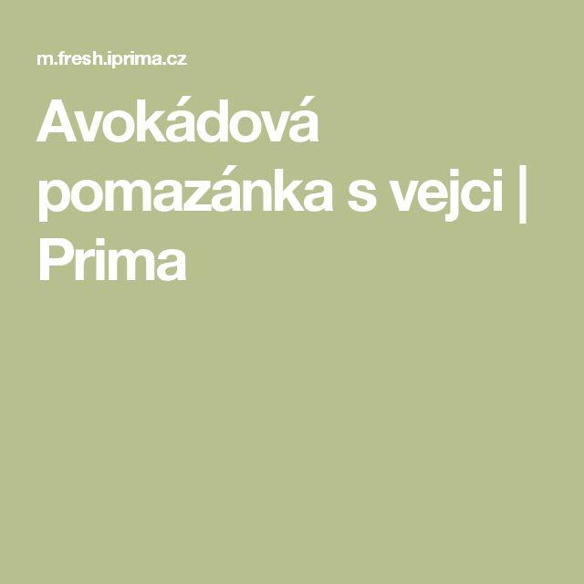 Avokádová pomazánka svejci | Prima