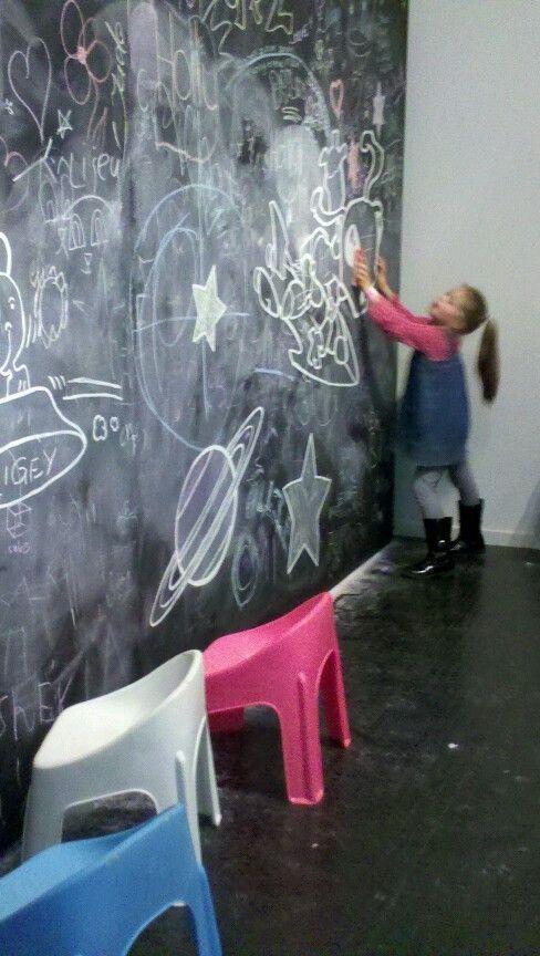 Graffiti chalk wall at fun4kids festival warrnambool 2013
