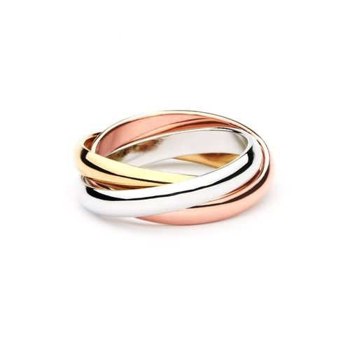 Trinity Tri-Coloured Interlocking Classic Ring