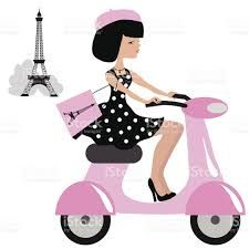 Image result for french scooter images clip art
