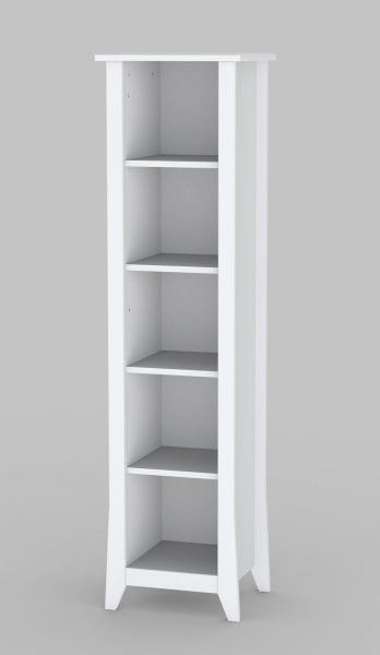 Vice Versa Collection 60 Slim Bookcase White H X 15 75