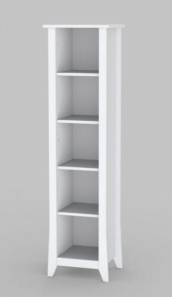 "Vice Versa Collection 60"" Slim Bookcase (White) (60""H x 15.75""W x 13.75""D)"