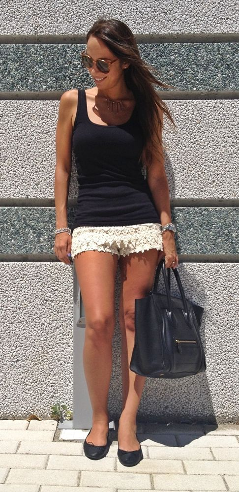 Nameless fashion blog: Crochet Shorts