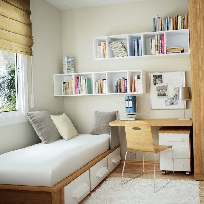 10 Ide Dekorasi Kamar Tidur Sempit Tapi Tetap Nyaman In 2021 Tiny Bedroom Design Small Space Bedroom Simple Bedroom Small bedroom design 2021