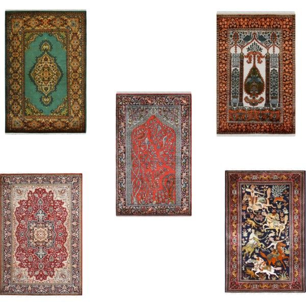 Pure Handmade Kashmir Silk Rug Crafted By Rugs and Beyond by rugsandbeyond on Polyvore featuring interior, interiors, interior design, home, #homedecor and #interiordesign