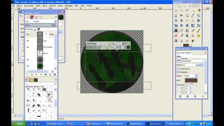 Jak zrobić okrągłe logo w GIMP - tutorial