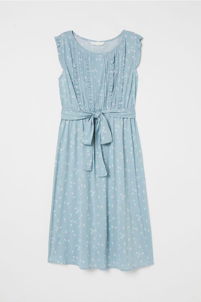 b191b0f1b MAMA Patterned Jersey Dress - Light turquoise patterned - Ladies