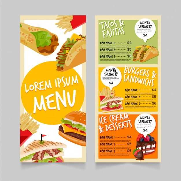 Download Fast Food Menu Template For Free Food Menu Template Food Menu Design Menu Design Template