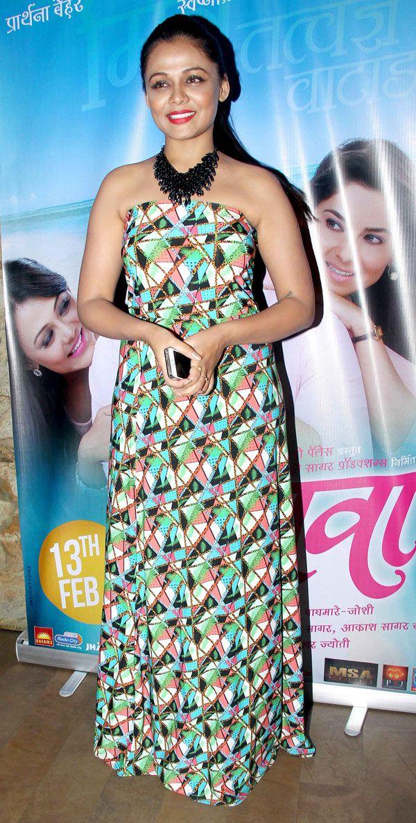 Prarthana Behere at the trailer launch of #Marathi film 'Mitwaa'. #Bollywood #Fashion #Style #Beauty