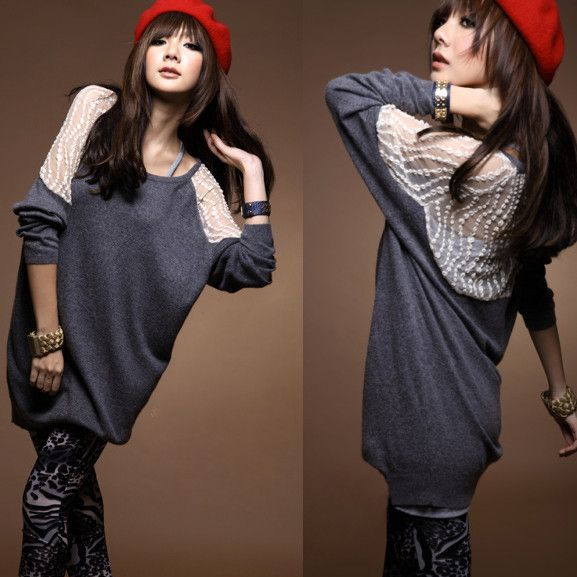 Free Shipping Plus Size Clothing Autumn  Big Size Big Size Loose Lace Long-Sleeve T-Shirt Clothes - http://www.freshinstyle.com/products/free-shipping-plus-size-clothing-autumn-big-size-big-size-loose-lace-long-sleeve-t-shirt-clothes/